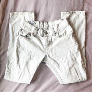 Levi's white denim skinny jeans